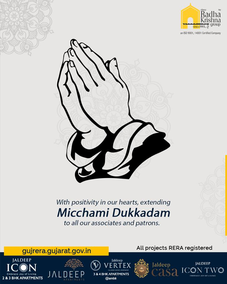 With positivity in our hearts, extending Micchami Dukkadam to all our associates and patrons  #MicchamiDukkadam #Samvatsari #Samvatsari2019 #ShreeRadhaKrishnaGroup #Ahmedabad #RealEstate #SRKG https://t.co/CyGPRb4poo