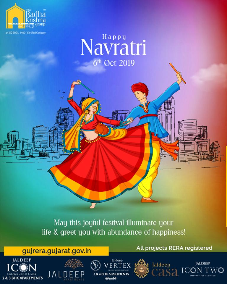May this joyful illuminate your life & greet you with abundance of happiness!  #Day6 #Navratri #Navratri2019 #HappyNavratri #ShreeRadhaKrishnaGroup #Ahmedabad #RealEstate #SRKG https://t.co/4A93k2sK2P