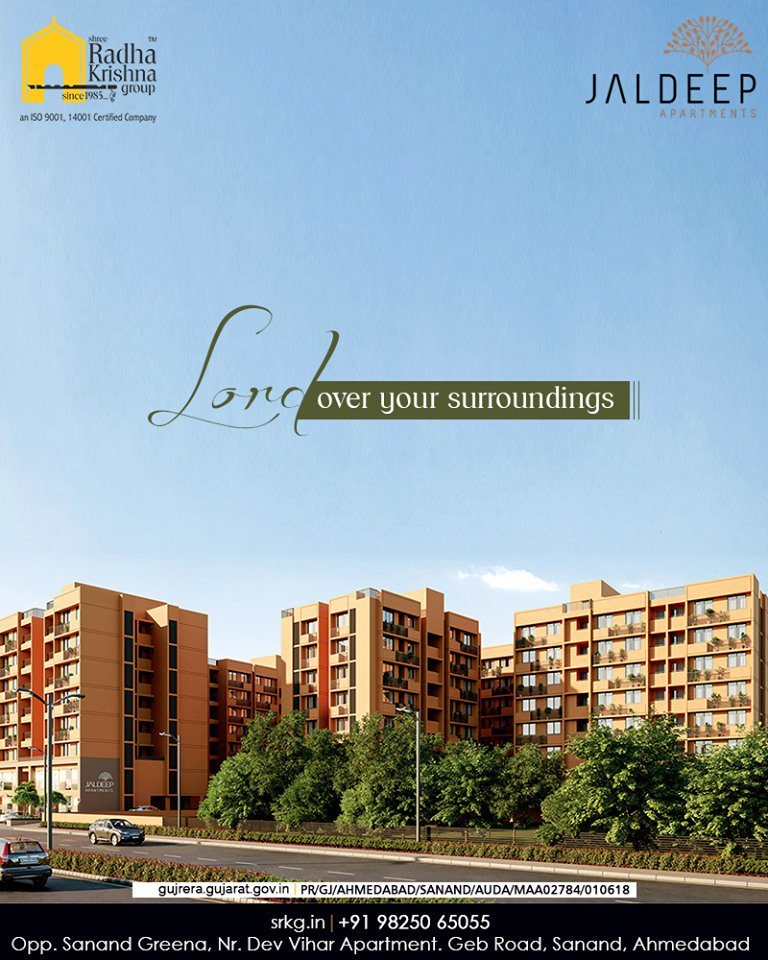 Have all the contemporary amenities right at your service and lord over your surroundings at #JaldeepApartment.  #AlluringApartments #ExpanseOfElegance #LuxuryLiving #ShreeRadhaKrishnaGroup #Ahmedabad #RealEstate #SRKG https://t.co/y9ZcHOu3Q3