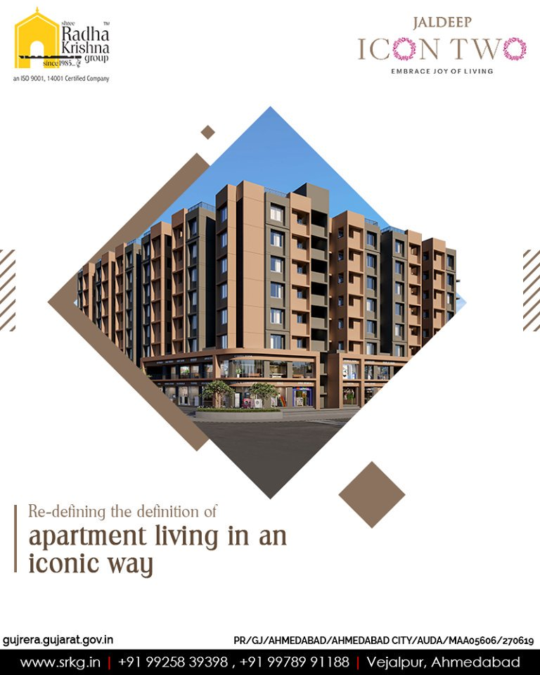 Radha Krishna Group,  JaldeepIcon2, LuxuryLiving, ShreeRadhaKrishnaGroup, Ahmedabad, RealEstate, SRKG, IconicApartments
