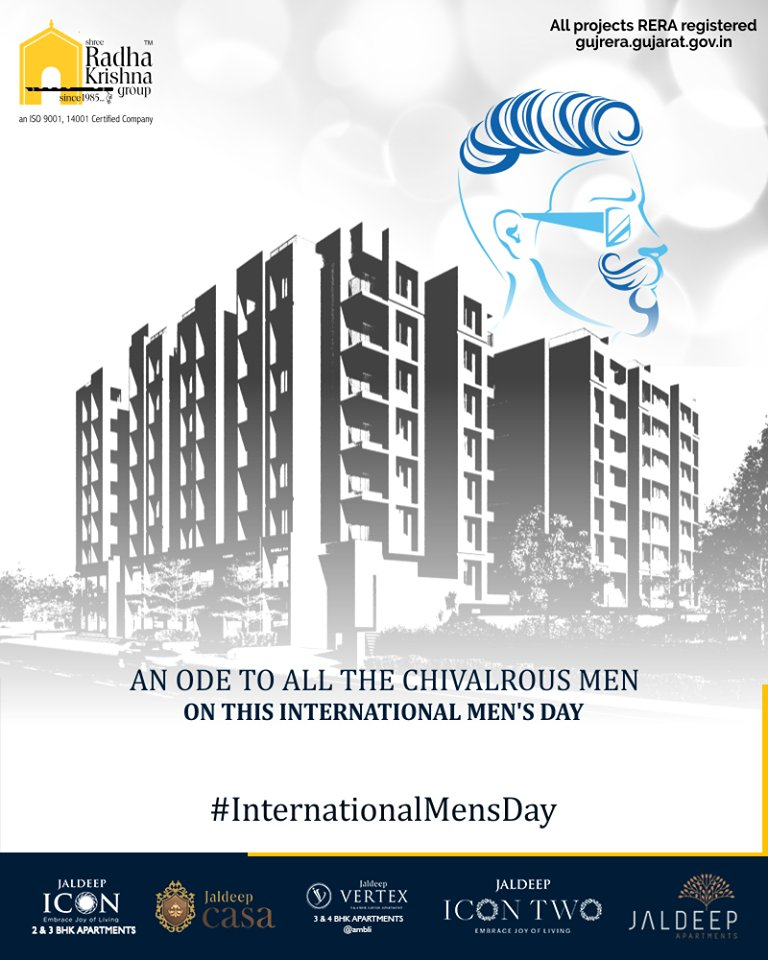 An ode to all the chivalrous men on this international men's day.  #InternationalMensDay #MensDay #MensDay2019 #ShreeRadhaKrishnaGroup #Ahmedabad #RealEstate #SRKG https://t.co/s4IuHwX1lv