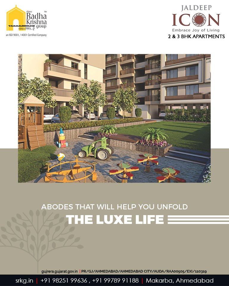 #JaldeepIcon shall offer the abodes that will help you unfold the luxury of nature and the luxe life.  #AlluringApartments #ExpanseOfElegance #LuxuryLiving #ShreeRadhaKrishnaGroup #Ahmedabad #RealEstate #SRKG https://t.co/pwmyWqhdTk