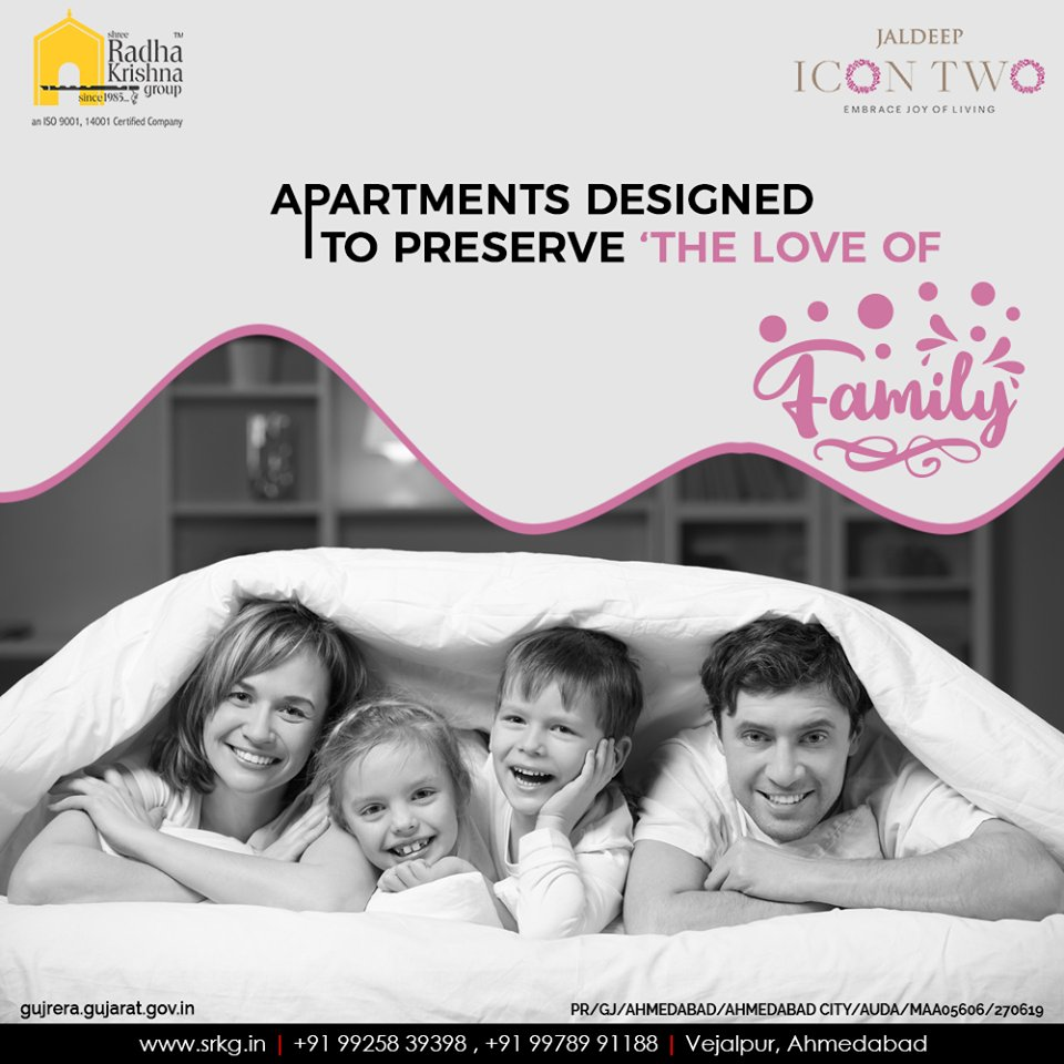 Family is where happiness begings! #JaldeepIcon2 is uniquely designed to preserve the love of family.  #Amenities #LuxuryLiving #ShreeRadhaKrishnaGroup #Ahmedabad #RealEstate #SRKG #IconicApartments #IconicLiving https://t.co/vhNQH30nFE