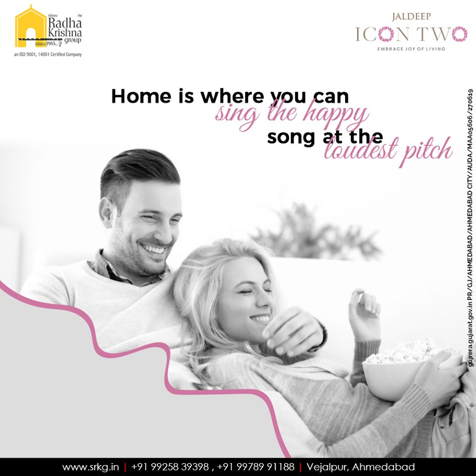 Home is where you can sing the happy song at the loudest pitch. Sing the happy song, do the disco dance and live the lavish life at #JaldeepIcon2.  #Amenities #LuxuryLiving #ShreeRadhaKrishnaGroup #Ahmedabad #RealEstate #SRKG #IconicApartments #IconicLiving https://t.co/7ch239X8sm