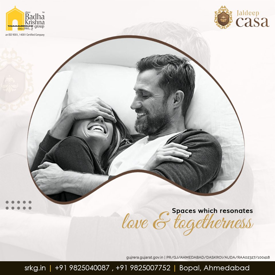 """""""Spaces which resonates love & togetherness""""  #JaldeepCasa #WorkOfHappiness #Bopal #Amenities #LuxuryLiving #ShreeRadhaKrishnaGroup #Ahmedabad #RealEstate https://t.co/D3ECObLMZw"""
