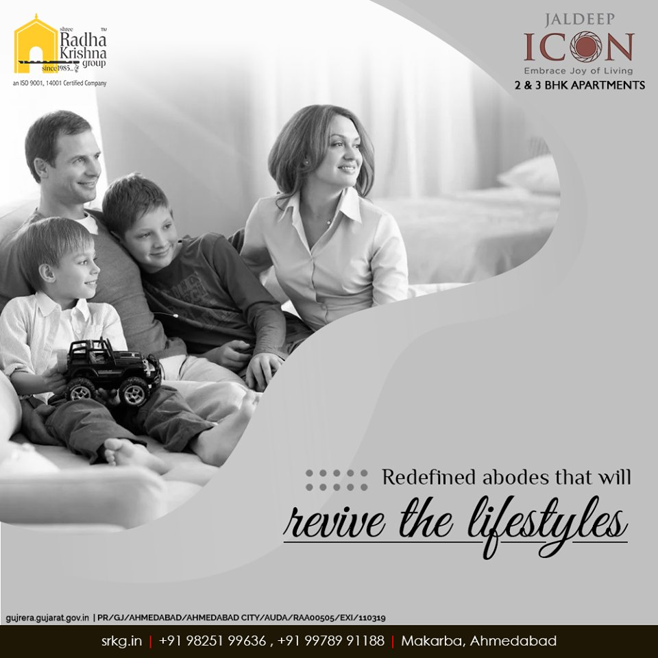 With the right blend of innovation and thoughtful construction; #JaldeepIcon comprises of the redefines abodes that shall revive the lifestyle of its dwellers.  #LuxuryLiving #ShreeRadhaKrishnaGroup #Ahmedabad #RealEstate #SRKG #IconicApartments https://t.co/C5DvcXUFTU