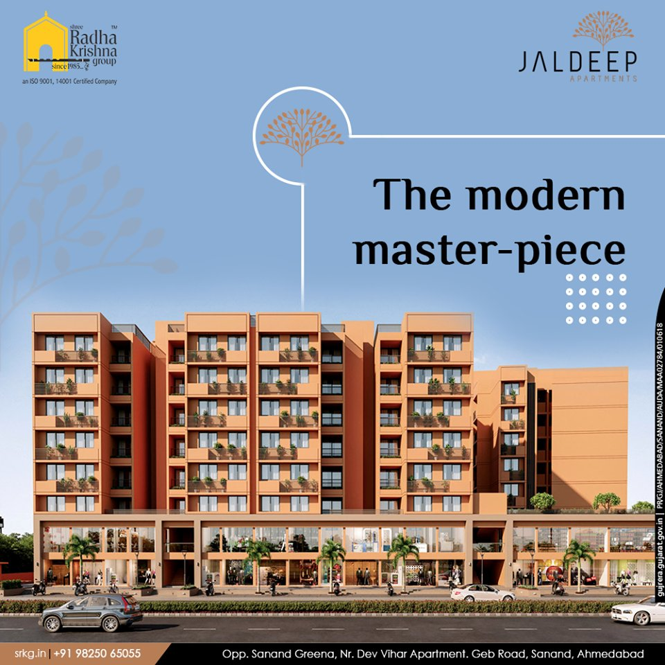 Savour all the luxuries of a modern lifestyle at the vougishly designed, modern master-piece; #JaldeepApartment.  #AlluringApartments #ExpanseOfElegance #LuxuryLiving #ShreeRadhaKrishnaGroup #Ahmedabad #RealEstate #SRKG https://t.co/NqO2LJVYMK
