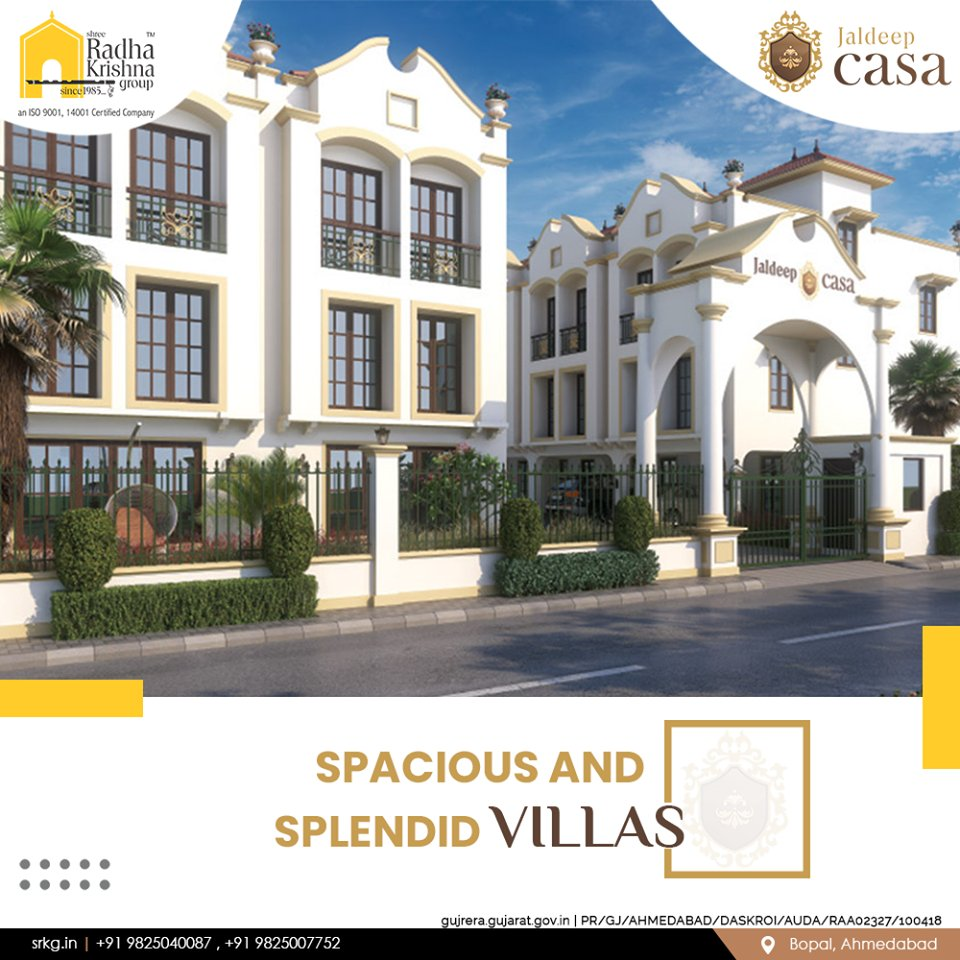 Discover the joys of living in a spacious and splendid villa within the city.  #JaldeepCasa #WorkOfHappiness #Bopal #Amenities #LuxuryLiving #ShreeRadhaKrishnaGroup #Ahmedabad #RealEstate https://t.co/6VdstF7J6R