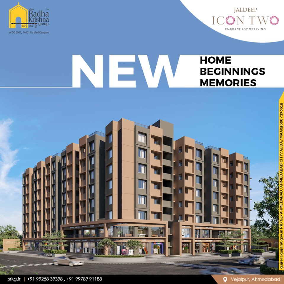 Nothing beats the joy of owning a new home!  Gear up to have an all new beginning at #JaldeepIcon2 where you can entwine moments into memories.  #Icon2 #Vejalpur #LuxuryLiving #ShreeRadhaKrishnaGroup #Ahmedabad #RealEstate #SRKG https://t.co/76NG5qegaL