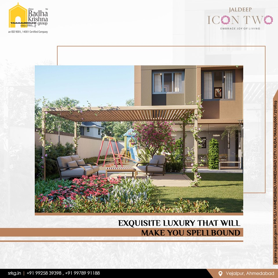 Reside in a spellbinding environs and enjoy the grandeurs of a prosperous life.  #JaldeepIcon2 #Icon2 #Vejalpur #LuxuryLiving #ShreeRadhaKrishnaGroup #Ahmedabad #RealEstate #SRKG https://t.co/EuF6FWOECM