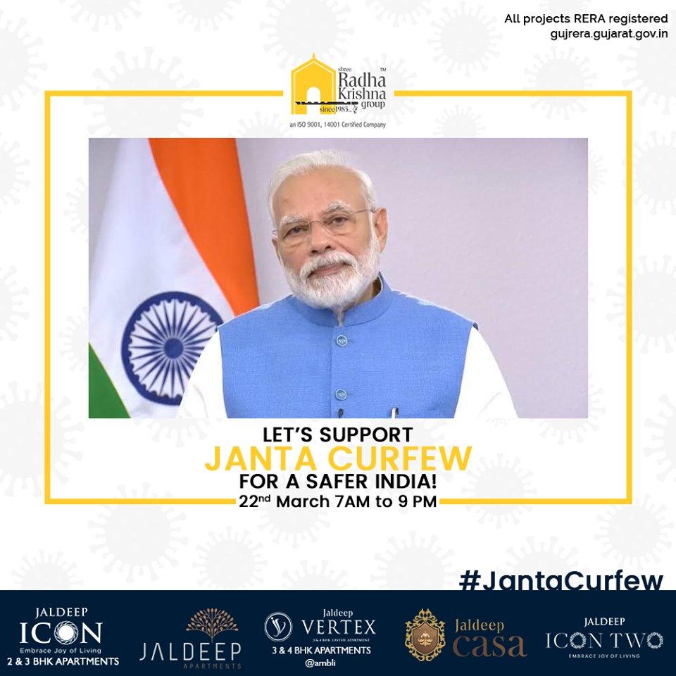 Radha Krishna Group,  IndiaFightsCorona, JantaCurfew, JantaCurfew2020, Coronavirus, ShreeRadhaKrishnaGroup, Ahmedabad, RealEstate