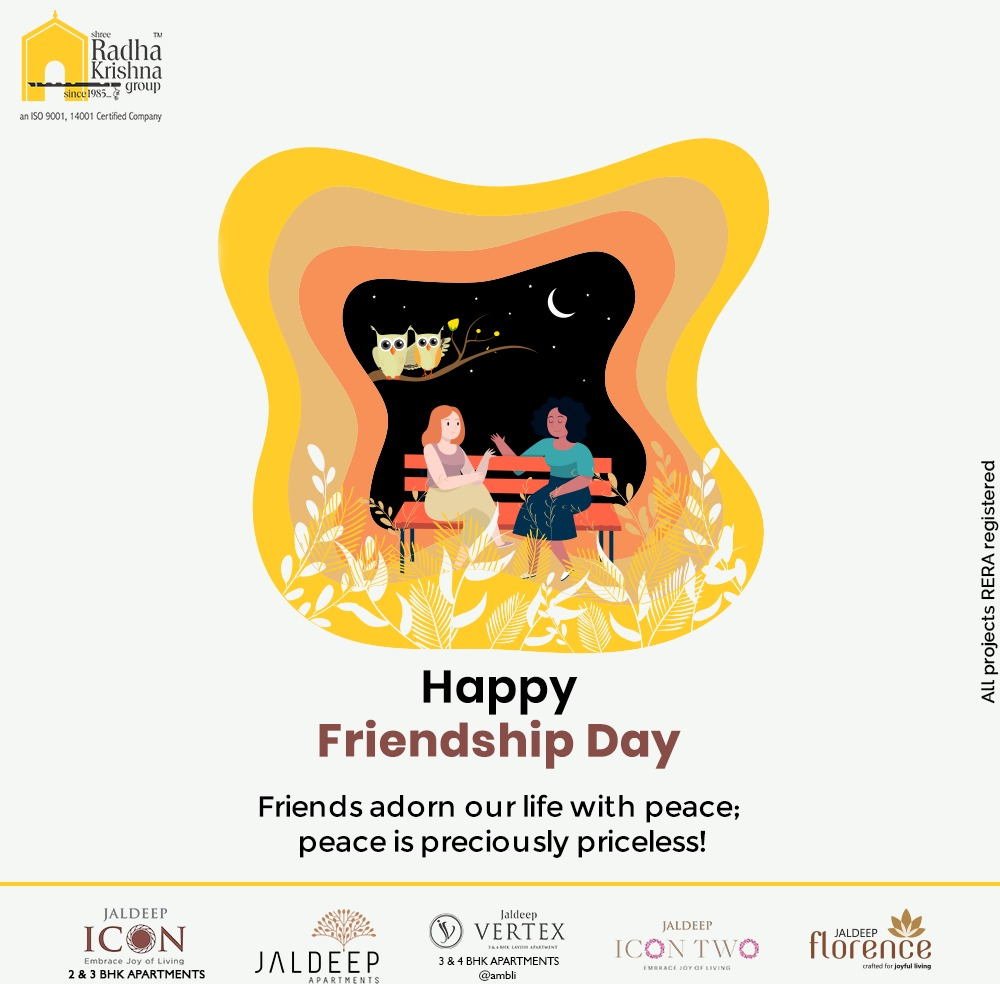 Radha Krishna Group,  FriendshipDay, FriendshipDay2020, HappyFriendshipDay, Friends, ShreeRadhaKrishnaGroup, Ahmedabad, RealEstate, SRKG
