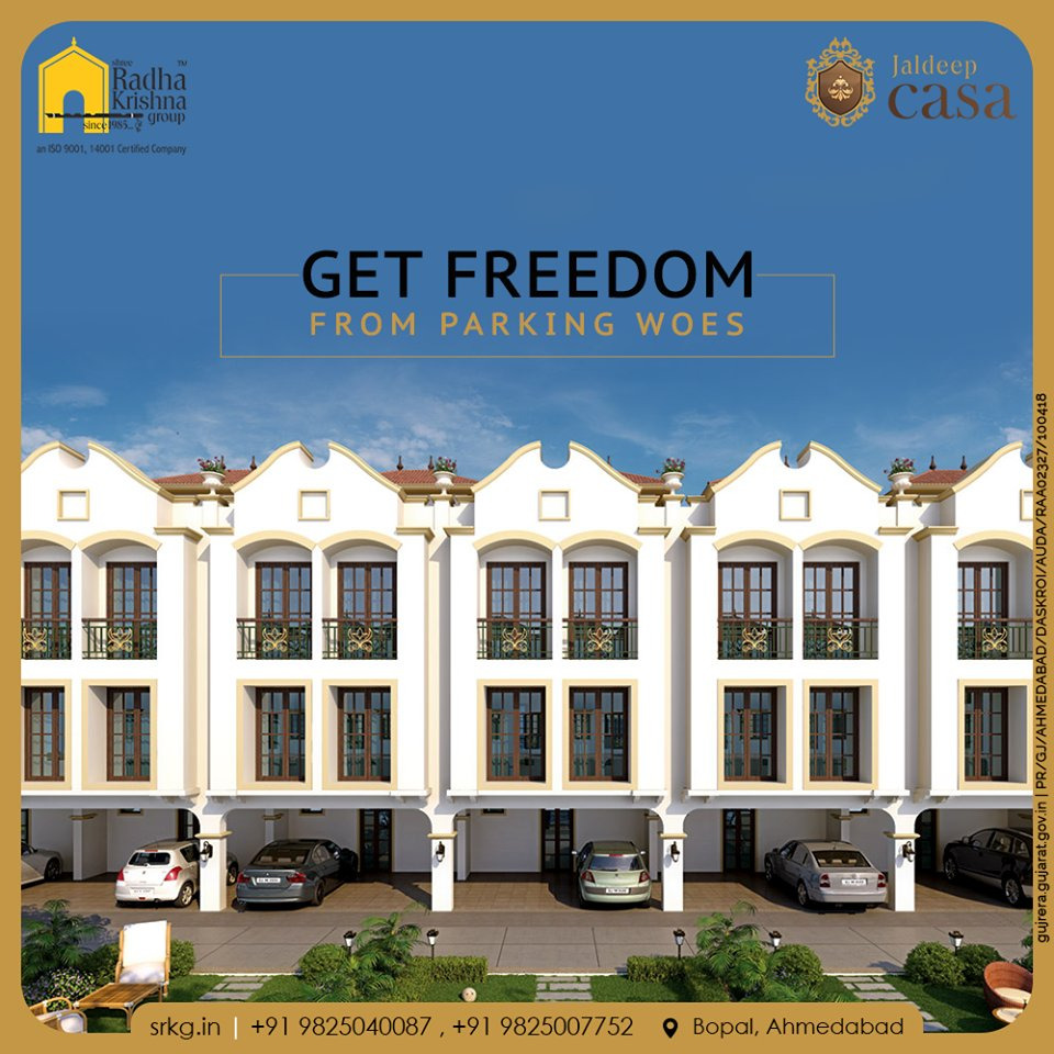 Now the problem of parking will not arise as a huge space has been allotted for parking. Adore the concept of independent living at the gloriously designed glamorous residential project; #JaldeepCasa.   #Bopal #LuxuryLiving #ShreeRadhaKrishnaGroup #Ahmedabad #RealEstate https://t.co/3vgOBM3qFI
