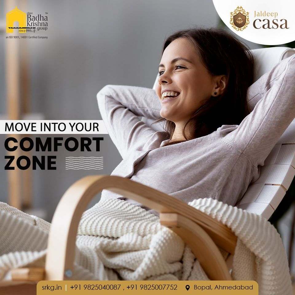 Re-discover and re-invent yourself by spending more me-time at your own comfort zone.  #JaldeepCasa #WorkOfHappiness #Bopal #Amenities #LuxuryLiving #ShreeRadhaKrishnaGroup #Ahmedabad #RealEstate https://t.co/sBdmhqcJGz