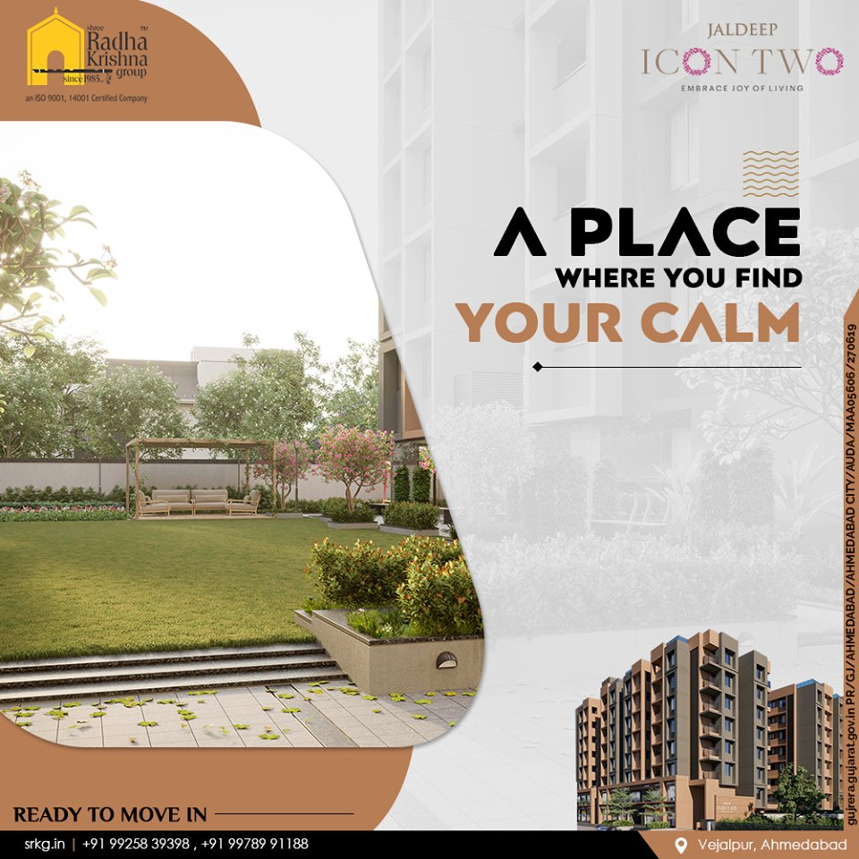 Step into a beautiful world where you can find your calm midst the chaos of life.  Jaldeep Icon Two has 2 BHK Apartments & Shops @Vejalpur-Makarba.  #JaldeepIconTwo #Vejalpur #Makarba #LuxuryLiving #ShreeRadhaKrishnaGroup #RadhaKrishnaGroup #SRKG #Ahmedabad #RealEstate https://t.co/BcdskDDKIq