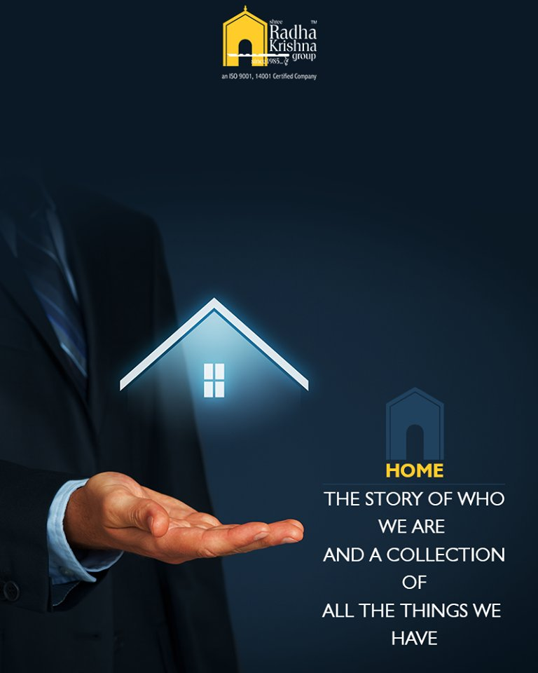 Home the story of who we are and a collection of all the things we have. Don't you agree?  #ShreeRadhaKrishnaGroup #RealEstate #Ahmedabad https://t.co/nk3zzdqBw5