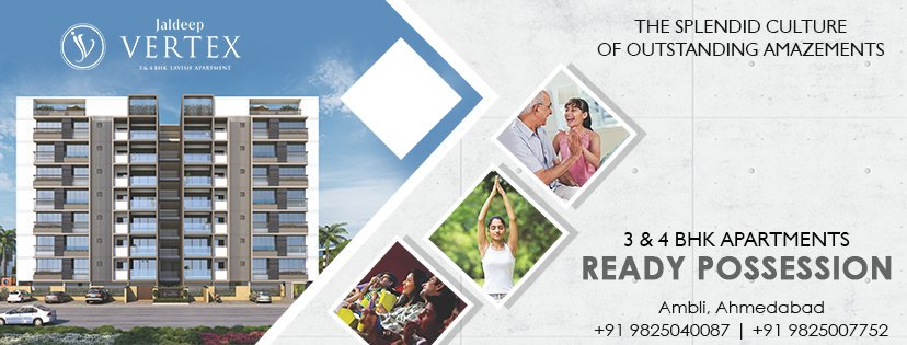 #JaldeepVertex #2and4BHKApartments #ReadyPossession #LuxuryLiving #ShreeRadhaKrishnaGroup #Ambli #Ahmedabad https://t.co/f6EIcCurDk